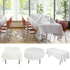100% Spun Polyester White Tablecloth Heavy Weight Wedding Party Xmas Banquet