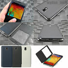 For Samsung Galaxy Note 3 III Leather Flip Rear Back Battery Case Cover