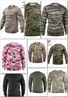Black ACU Desert Digital Olive Drab Smokey Branch Camo Long Sleeve T-Shirt Shirt
