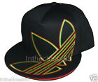 NEW ADIDAS SUPERSIZE TREFOIL 3 LINES MENS WOMENS FLAT BASEBALL CAP BLACK/RASTA