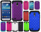 For Samsung Galaxy S4 MINI HYBRID IMPACT Dazzling Diamond Case Phone Cover