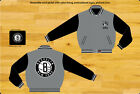 "Brooklyn Nets NBA Jacket Wool Nylon Gray Black Reversible Jacket ""BLOWOUT"" SALE on eBay"