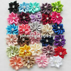 10/40pcs Upick satin ribbon flowers bows with Appliques Craft DIY Wedding M002