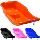 KIDS HEAVY DUTY SNOW SLEDGE TOBOGGAN SLEIGH SLED ROPE PLASTIC ADULTS SKI BOARD