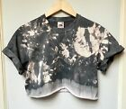 Tie Dye crop top acid Grunge oversized hipster cropped t shirt scrunch vtg 90's
