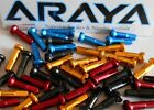 Araya Alloy Spoke Nipples Anodised Blue Red Gold Black. Bag 36. Length 16mm NEW