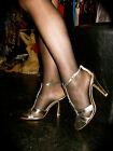 Bling! Comes to Town TOWIE Pewter Heels Party Shoes with Large Cut-Glass Jewels