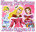 PERSONALIZED PRINCESSES CHRISTMAS T-SHIRT ALL SIZES!
