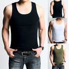 Men's Vests Casual Sleeveless Shirt Scoop Neck Tank Top Undershirts Subcoating