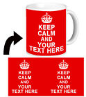 ❤ PERSONALISED KEEP CALM and CARRY ON  mug cup with any text any colour  ❤