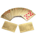 24K Gold Foil Plated 52 Poker Playing Cards 99.9% Pure Certficate Dollar EURO
