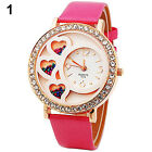 Lovely Dfa Womens Round Dial Analog Crystals & Beads Decoration Rose Watch BD4U