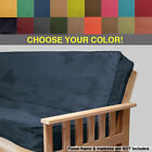 MICRO-SUEDE FUTON COVER - Full Size - Free Shipping image
