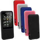Silicone Skin Case Cover for Sony Walkman NWZ-E585 E584 8GB/16GB + Screen Prot.