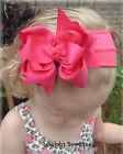 Shocking Pink Exclusive Hair Bow Headband Clip Infant Toddler Girls Baby Summer