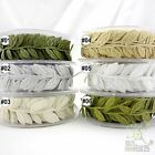 1 metre 3cm mixed colors leaf leaves ribbon trimming craft embellishment U pick