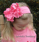 Hot Pink Double Ruffle Hair Bow Headband Clip Valentines Day Infant  Easter Bows