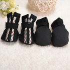 4Pcs Black Winter Warm Pet Dog Puppy Shoes Boots Sneakers Anti-slip S/M/L/XL