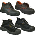 MENS SAFETY TRAINERS SHOES BOOTS WORK STEEL TOE CAP HIKER ANKLE SIZE 4 -13UK NEW