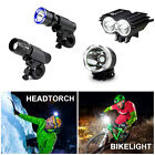 CREE LED Mountain Bike Road Bicycle Cycles Front Lights & Head Torch + LED Rear
