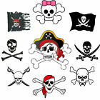 Pirate flag Iron on T Shirt Transfer . Many Designs A6 A5 A4 skull & crossbones