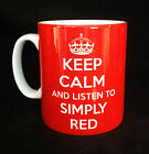 NEW KEEP CALM AND LISTEN TO SIMPLY RED GIFT MUG CUP PRESENT MICK HUCKNALL FAN