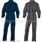 Delta Plus Panoply M2CDZ Mens Double Zip Work Overall Boiler Suit Coverall New