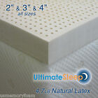 "NEW 3 Inch 100% Natural Latex Mattress Pad Topper - FullXL 53"" x 80"" 3 Densities"