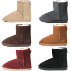 New Cute Leather Various Colors Shearling Womens Winter Snow Warm Boots