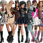 Adult Ladies Halloween Outfit Sexy Horror Fancy Dress Costume New Monster High