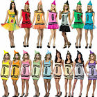 Adult Crayola Tutu Fancy Dress Costume Tank Crayons Halloween Hat Hen Party New