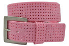 PGA Tour Men's PINK Perforated Silicone Golf Belt - Size 34 - 44 - New w/ Tags