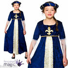 DELUXE GIRLS TUDOR PRINCESS ROYAL FANCY DRESS UP COSTUME MEDIEVAL CHILDS KIDS