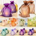 50pcs 7x9cm Strong Organza Pouch Small Wedding Favor Jewelry Gift Candy Bag Xmas