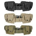 10 Pocket Utility Pouch Cartridge Ammo Tool Rugged Cotton Canvas Adjustable Belt