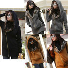 New Fashion Women Lady Long Zips Sweatshirt Hoodie Fleece Jacket Overcoat M-XXL