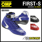 IC/802 OMP FIRST-S Race Rally Boots Fireproof Suede Leather FIA 8856-2000