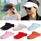 Unisex Men Women Sun Visor Cap Adjustable Sports Tennis Golf Headband Cotton Hat