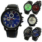 Mens Military Army Quartz Analog Unisex Sport Wrist Watch Silicone Rubber Strap