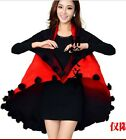 High quality knit Poncho Top tassel cape Sweater coat 11 colors plus uk size hot