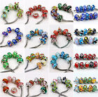 10/50 Stk. mix Loose European Perlen Beads Murano Glas Charm spacer 22 Design