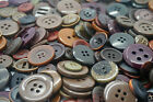 Dark Brown Craft Buttons mixed size large small Round Bulk Wholesale sewing 100g