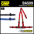 "DA509 OMP 'STRADA 3' ROAD HARNESS 3-POINT 2"" STRAPS BOLT-IN - RED or BLACK"