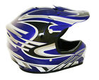 Lunatic Youth MX / ATV Helmet Blue with Graphic - DOT Approved - Boys Girls Kids