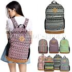 Retro Girls Womens Men Backpack Rucksack School Shoulder Travel Gym Bag Handbag