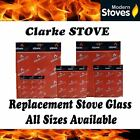 Clarke Replacement Stove Glass - Heat Resistant
