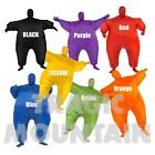 Inflatable Blow Up Fat Body Suit Sports Fan Jumpsuit Mascot Costume Adult NEW