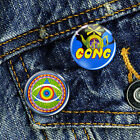 Gong Classic Space Rock psychedelic Acid Pin Button Badge Set 2 x 25mm Badges