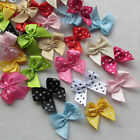 E229 60pcs Dot Satin Ribbon Flowers Bows Gift Craft Wedding Decoration Upick