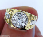 RX Two Tone 18kt Gold EP Mens Fashion Ring New